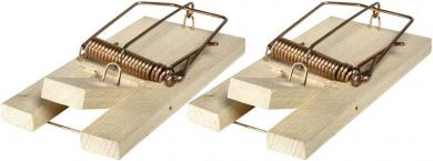 Set cursă de şoareci SuperCat Classic, lemn, 2 buc., Swissinno