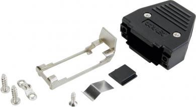 Carcasă plastic D-SUB 15 pini, 180°, negru, Conec 165X11289XE