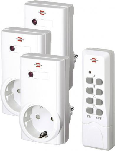 Set 3 prize wireless şi telecomandă, interior, 433 MHz, Brennenstuhl RCS 1000 N Confort