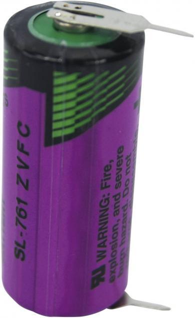 Baterie litiu 2/3 AA cu 2 pini de lipire 3,6 V, 1500 mAh, Tadiran Batteries SL 761 PR