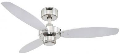 Ventilator de tavan (Ø) 105 cm, 3 trepte de viteză, 3 palete, culoare palete/carcasă: wenge, argintiu/nichel (şlefuit), Westinghouse Jet 1