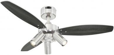 Ventilator de tavan (Ø) 105 cm cu iluminare, 3 trepte de viteză, 3 palete, culoare palete/carcasă: wenge, argintiu/nichel (şlefuit), Westinghouse Jet Plus