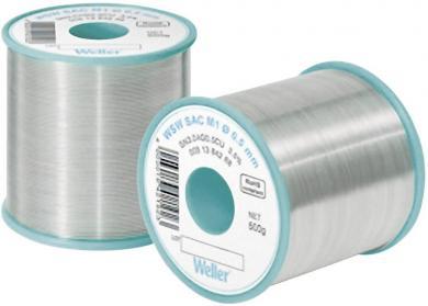 Aliaj de lipit fără plumb, Sn3.0Ag0.5Cu, Ø 1 mm, 250 g, Weller WSW SAC L0