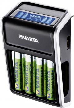 Încărcător acumulatori Varta LCD Plug, inclusiv 4 acumulatori AA, 2100 mAh