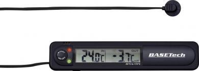 Termometru auto interior-exterior cu avertizare îngheț Basetech