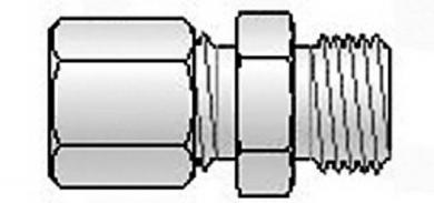 Clemă cu şurub din PTFE, M8X1 Ø 3,1 mm, max. 260 °C