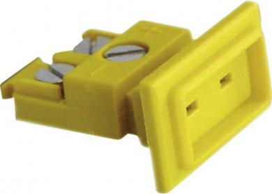Doză miniatură pentru încastrare tip K (NiCr-Ni), galben, -50 la +120 °C, fixare cu şurub în lateral