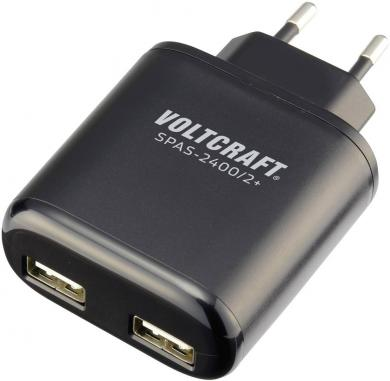 Încărcător USB Voltcraft SPAS-2400/2+, 4800 mA, 2 x USB