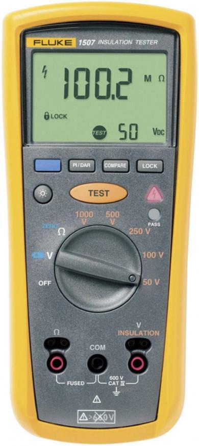 Megohmetru Fluke 1507, 50 V, 100 V, 250 V, 500 V, 1000 V, 10 GΩ