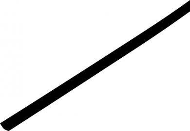 Tub termocontractabil cu pereți subțiri 2:1, 1,0/0,6 mm, negru