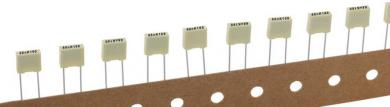 Condensator poliester 33 nF, 100 V, 10 %, distanţă între contacte 5 mm, (l x Î x A) 7,2 x 2,5 x 6,5 mm, Kemet R82EC2330DQ50K