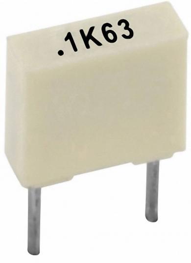 Condensator poliester 4,7 nF, 100 V, 10 %, distanţă între contacte 5 mm, (l x Î x A) 7,2 x 2,5 x 6,5 mm, Kemet R82EC1470AA50K