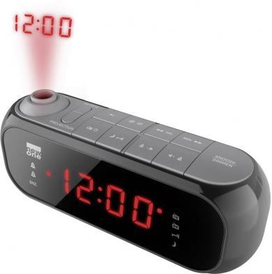 Ceas deșteptător cu radio și proiecția orei New One CR 135, negru