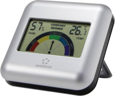 Termohigrometru digital cu indicator zonă de confort Renkforce S3341H