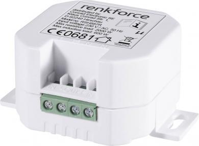Comutator wireless încastrabil, 1 canal, 2000 W, Renkforce RS2W