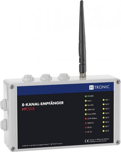 Receptor wireless 8 canale, 3 frecvenţe reglabile, 200 m, H-Tronic HT200E