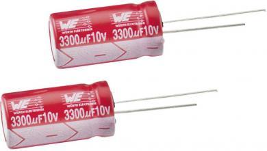 Condensator electrolitic radial 25 V, 100 µF, (Ø x Î) 6,3 x 11 mm, Würth Elektronik WCAP-ATLI 860080473006