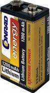 Baterie litiu 9 V 6LR61 Conrad energy Extreme Power, 1200 mAh