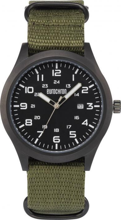 Ceas de mână cuarţ Eurochron EQAU 2701, (Ø x Î) 43 x 11 mm, antracit