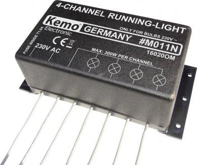 Modul lumini 4 canale, 230 V