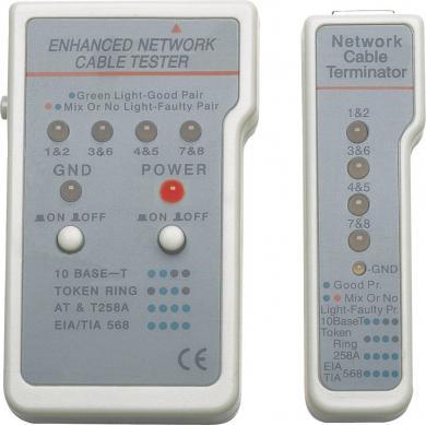 Tester de cabluri multifuncţional Intellinet 351898, RJ-11 şi RJ-45