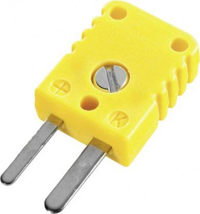Stecăr plat miniatură pentru termocuplu tip K (NiCr-Ni), galben, -50 la +120 °C