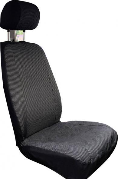 Husă scaun auto faţă pentru VW T5, poliester, negru, Eufab