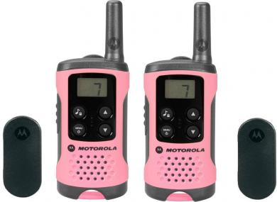 Staţie emisie-recepţie PMR Motorola TLKR T41, roz, set 2 buc.
