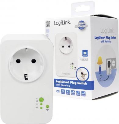 Priză inteligentă wireless cu contorizare consum, interior, 2,4 GHz, LogiLink PA0066