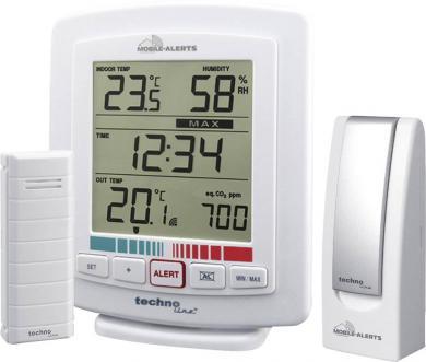 Set termohigrometru wireless cu monitorizare calitate aer Mobile Alerts WL 2000 şi gateway, Techno Line MA 10005