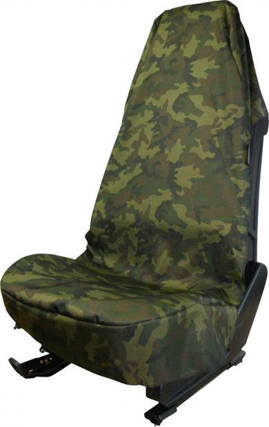 Husă universală scaun auto, poliester, camuflaj