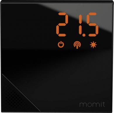 Termostat de cameră wireless, control prin smartphone, Momit Home Pure Black