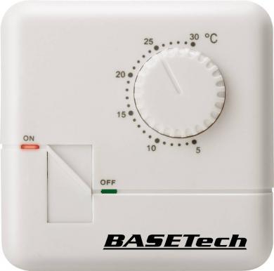 Termostat de cameră, montare la suprafaţă, program zilnic, 5 la 30 °C, Basetech MH-555C