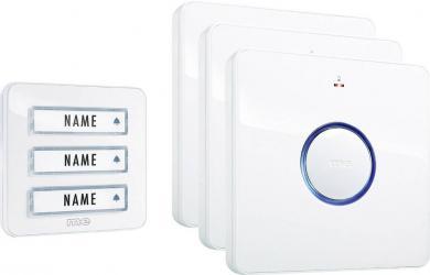 Set sonerie wireless pentru 3 familii, 8 melodii, modern-electronics Bell 233