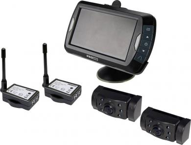 Sistem video wireless asistenţă marşarier cu 2 camere, ProUser APR043x2