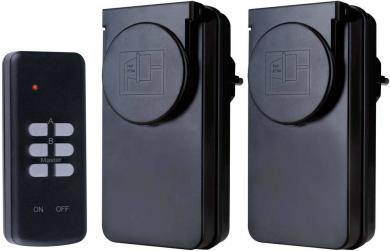 Set 2 prize wireless şi telecomandă, exterior, 433 MHz, Flamingo SF-500WD/2
