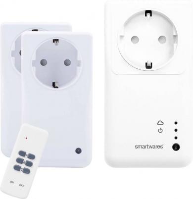Set controler, 2 prize inteligente wireless şi telecomandă, interior, 433 MHz, 2,4 GHz, Smartwares SH5-SET-GW
