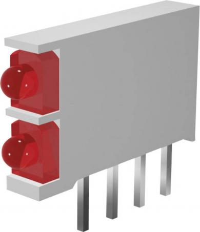 Led dublu MINI-LINE, DBI01300, roşu/roşu