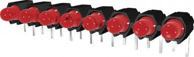 Şir de leduri, 8 poziţii, Signal Construct DUHS35820, roșu