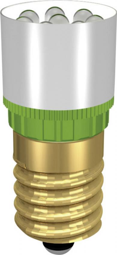 Lampă cu led Cluster, soclu E14, tip MCRE 148 374, verde, 24 V DC/AC, 0,9 W