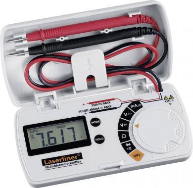 Multimetru digital Laserliner MultiMeter Pocket Box, CAT II 250 V, 3.5 counts