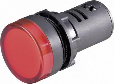 Lampă cu led, Pilot Light, roşu,  tensiune de funcţionare 12 V DC/AC