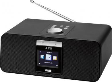 Internet radio AEG IR 4468 BT, Bluetooth, USB, FM, WLAN, negru