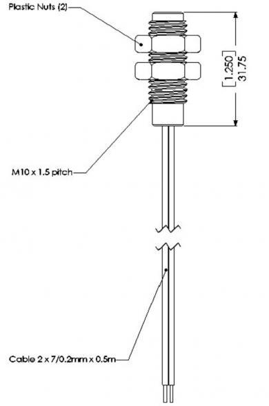 Senzor de poziţie pentru înşurubarea în oţel inoxidabil şi plastic, Gentech PS831
