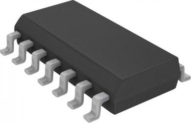 Amplificator operaţional STM ST Microelectronics TL 074 CD, carcasă tip SO 14, versiune Quad J-FET OP