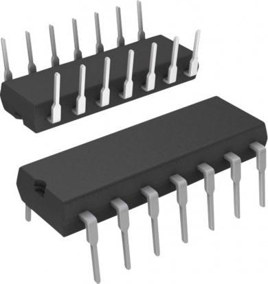 Amplificator operaţional STM ST Microelectronics TL 074 CN, carcasă tip DIP 14, versiune Quad J-FET OP