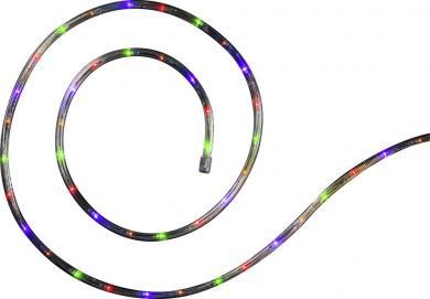 Ghirlandă luminoasă solară pentru exterior, 120 leduri multicolor, 6 m, Polarlite