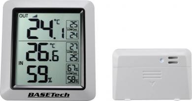 Termohigrometru wireless cu senzor extern Basetech