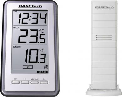 Termometru wireless Basetech TS-9160, argintiu