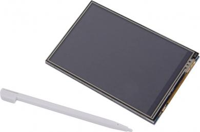 "Display touch screen pentru Raspberry Pi, 8.89 cm (3.5"") 320 x 480 pixeli, Makerfactory"